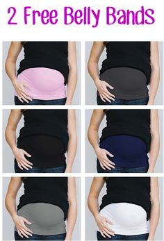 2 FREE Pregnancy Belly Bands! {just pay s/h} ~ a frugal fashionable way to save money on that pregnancy wardrobe! #thefrugalgirls