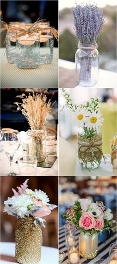 mason jars wedding centerpieces #weddingdecor #weddingideas #weddingcenterpiece #weddingreception