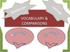 This is a collection of different lay-outs for comparing and contrasting terms in any class.  Some may be for word-wall, vocabulary mobiles, and review.Please check these class organization tools:Common Math Questions and Tasks Cards Any Group You Want..Make It Detailing Elements in a Situation or Problem Critical Thinking and Questioning Levels