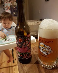 Feeding the kid, drinking a beer out of a @yahoo mug, trying to remember what 2005 was like.