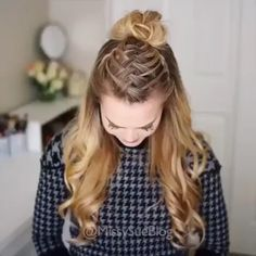 half hairstyles hairstyles round face hairstyles in a ponytail hairstyles 2018 little black girl hairstyles for 60 year olds hairstyles for running updos african american braided hairstyles for natural hair Hair Upstyles, Grunge Hair, Hair Videos, Hair Looks, Braided Hairstyles, Hairstyles 2018, Simple Hairstyles, Homecoming Hairstyles, Braided Updo