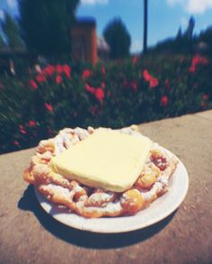Funnel Cake with Ice Cream - Funnel Cake Stand - American Pavilion