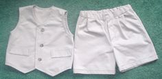 1215 mo Vest  and Shorts for Toddler Boy  Taupe by kolorfulkidlets, $25.00