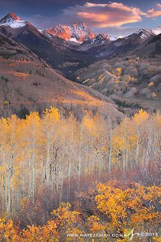 Capitol Peak - Elk Mountains - White River National Forest - Colorado, USA    End of the Gold Rush by Nate-Zeman