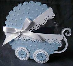 más y más manualidades: Crea bellas invitaciones con tema de carrito de bebé