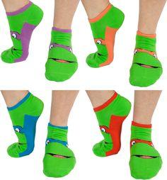 TMNT ankle socks. Need these!!!!!!!