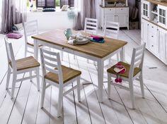 Stuhl Abschleifen essgruppe shabby chic esstisch aus gerstbohlen massivholz