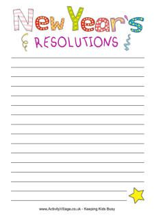 new year resolutions printable new years eve pinterest writing resolutions and new year resolution essay