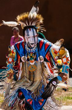 Zuni Indian wearing regalia
