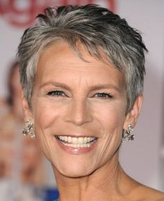 Very short haircuts for women over 60. Hey, it's Jamie Lee Curtis! Still as hot as ever.