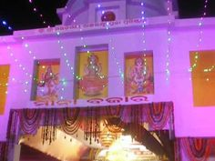 The torana of the oldest Laxmipuja pandal this year.