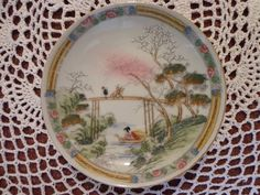 HAND PAINTED SAUCER Made In Japan Asian Scenic by ThePearlSwan, $10.59