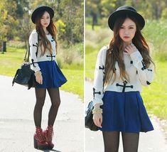 Chloe T - Love Cross Knit, Evil Twin Suede Skirt, Romwe Fringe Bag, Romwe Necklace, Sheinside Spike Bracelet - Sweet Nothing