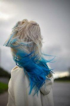 Mermaid Hair Inspiration Galore - Style on Vega Blonde And Blue Hair, Platinum Blonde Hair, Color Your Hair, Dye My Hair, Hair Colors, Heart Hair, Gorgeous Hair, Beautiful, Purple Hair
