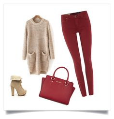"""""""Cozy fall"""" by tatyanasmolin ❤ liked on Polyvore featuring AG Adriano Goldschmied, MICHAEL Michael Kors, women's clothing, women's fashion, women, female, woman, misses and juniors"""