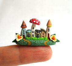 Miniatur Fingerspitze Fairy Kolonie OOAK von C. von ArtisticSpirit