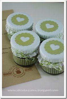 vasetti omogeneizzati decorati - Cerca con Google Confetti, Latte, Great Gifts, Diy Crafts, Desserts, Christmas, Handmade, Wedding, Food