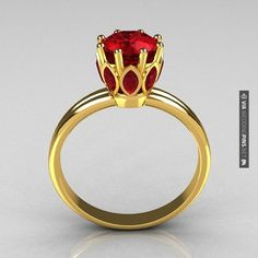 Nice - Ruby & Yellow Gold Ring | CHECK OUT MORE GREAT RED WEDDING IDEAS AT WEDDINGPINS.NET | #weddings #wedding #red #redwedding #thecolorred #events #forweddings #ilovered #purple #fire #bright #hot #love #romance #valentines