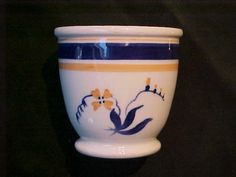 Vintage Hand Painted Syracuse China Egg Cup w Cobalt | eBay
