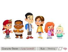 Character Design- Kids Standing 1 by LuigiL on DeviantArt