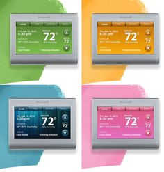 Honeywell Wi-Fi Smart Thermostat matches itself to your wall color and is adjustable by smart phone. How cool is this?