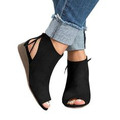 Trending wedge low heel sandals you might love - visit Cutelily shoes shop for all styles with cute design and amazing price.
