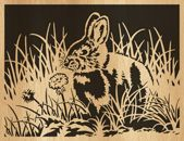 Scroll saw pattern 048-rabbit