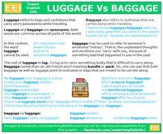 Vocabulary - Luggage vs Baggage