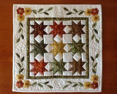 Miniature quilt pattern SAWTOOTH STAR by AnniesQuiltCraft on Etsy, $6.80