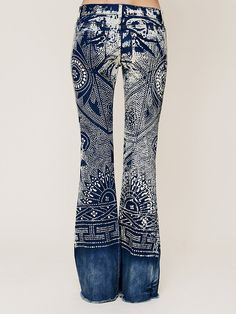 Free People Discharge Bali Flare, $69.95 - I could totally paint a pair of my bootcut jeans to look like this.