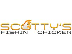 Scotty's Fishin' Chicken | Interarc Media #FishinChicken #DigitalMedia #Graphics #Logos #FoodService