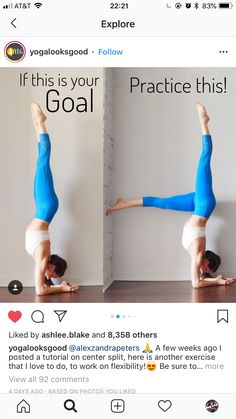 Look at this significant picture and also look into today related information on yoga back flexibility Yoga Inversions, Yoga Sequences, Yoga Poses, Dancer Workout, Gymnastics Workout, Yoga Routine, Yoga Fitness, Flexibility Workout, Yoga Challenge
