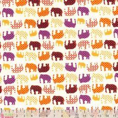 Carft Cotton - Poplin Elephants Yellow - cotton fabric