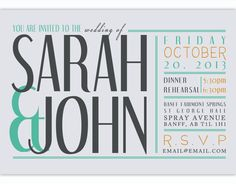 Modern typography letterpress wedding invitations by jupiter and items similar to typography wedding invitation on etsy stopboris Images