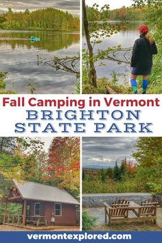 Looking for an amazing Vermont vacation idea this fall? Try fall camping at Brighton State Park in Island Pond VT. This quiet park is fabulous for fall foliage, hiking, and paddling, plus it's a fantastic homebase for exploring the Northeast Kingdom during autumn! Camping Spots, Camping And Hiking, Cool Places To Visit, Places To Travel, Travel Destinations, New England Travel, Vermont, Travel Usa, The Great Outdoors