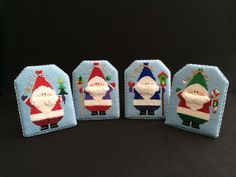 Fat Santa Easel Backs ~ canvases by Susan Roberts