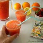 GRANIZADO de naranja y fresa natural