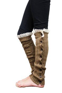 Girls Leg Warmers Brown by Modern Boho by ShopModernBoho on Etsy