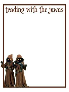 """Trading with the Jawas - Hollywood Studios - Star Wars Weekends - Project Life Journal Card - Scrapbooking ~~~~~~~~~ Size: 3x4"""" @ 300 dpi. This card is **Personal use only - NOT for sale/resale** Star Wars/photo/clipart belong to Disney. Font is Euphorigenic www.dafont.com/euphorigenic.font *** Click through to photobucket for more versions of this card ***"""