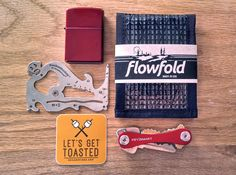 Pin it to WIN it! Enter to win a Flowfold Wallet, Keysmart Keychain, Zootility PockeMonkey Tool and a candy red Zippo Lighter!