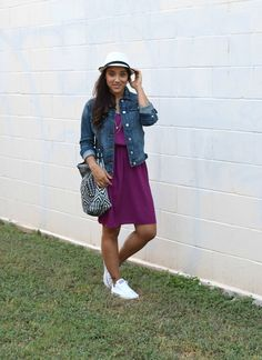 Summer Style I Diary of a Southern Shopper I dress @oldnavy, denim jacket & bag @zaraofficial, hat @forever21