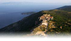 Lubenice, Croatia on the island of Cres. Middle age village on the sea