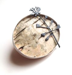 'Silver Birch Bark' Brooch by Josephine Gomersall