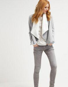 TWINTIP Bluza rozpinana grey melange