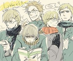 Hetalia - Norway, Iceland, Denmark, Finland, and Sweden : Nordics Glasses Reverse