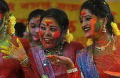 Fest der Farben in Indien.