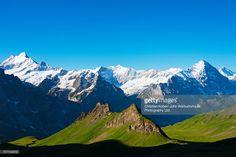 Switzerland, Canton of Bern, Swiss Alps, Jungfrau-Aletsch, mountain landscape.