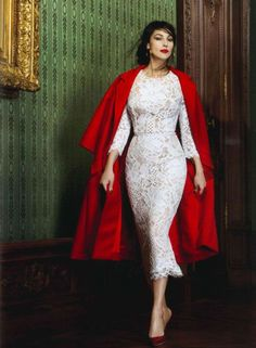 Monica Bellucci in winter style for Dolce and Gabbana
