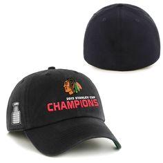 Chicago Blackhawks '47 Brand 2015 Stanley Cup Champions Franchise Hat - Black - $25.64