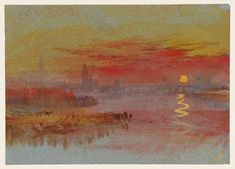 Joseph M. William Turner - The Scarlet Sunset, 1830-1840, watercolour and gouache on paper